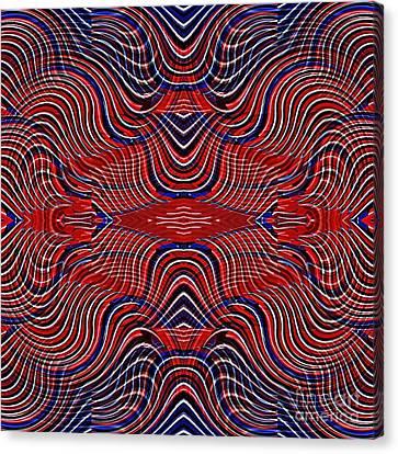 Memorial Day Canvas Print - Americana Swirl Design 9 by Sarah Loft