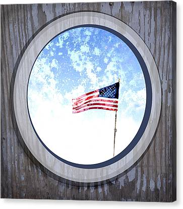 Flags Canvas Print - Americana Usa Flag by Ann Powell