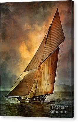 Abstraction Canvas Print - America's Cup  by Andrzej Szczerski