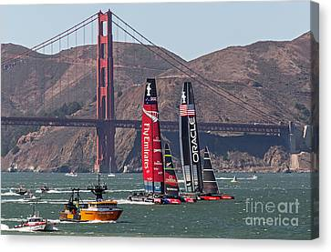 Americas Cup At The Gate Canvas Print
