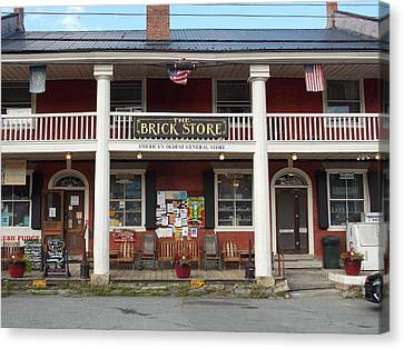 America's Oldest General Store Canvas Print by Catherine Gagne