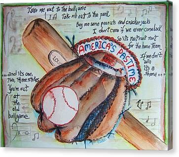 Americas Pastime II Canvas Print by Elaine Duras