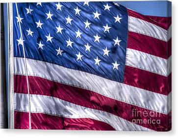 America's Stars And Strips Canvas Print by D Wallace