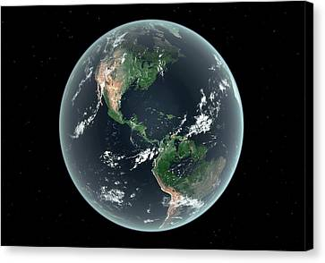 Americas With Sea Level Rise Canvas Print