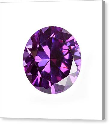 Amethyst Gemstone Canvas Print by Science Photo Library