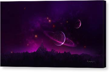 Amethyst Night Canvas Print by Cassiopeia Art