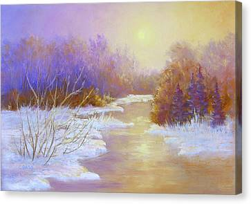 Amethyst Winter Canvas Print by Christine Bass