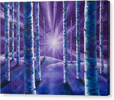 Amethyst Winter Canvas Print