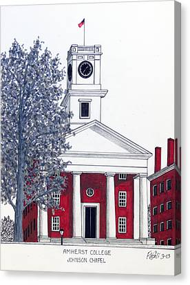 Amherst College Canvas Print by Frederic Kohli