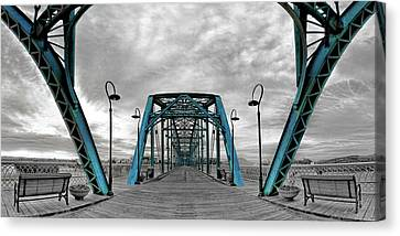 Amid The Bridge Canvas Print by Steven Llorca