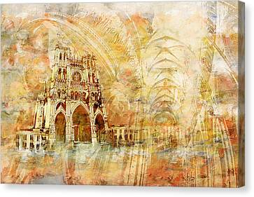 Amiens Cathedral Canvas Print by Catf