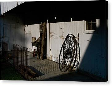 Amish Buggy Wheel Canvas Print