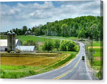Amish Countryside Canvas Print by Dyle   Warren