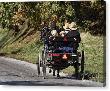Amish Family Canvas Print