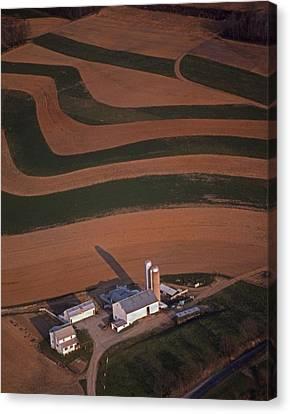 Amish Farm And Field Aerial Canvas Print by Blair Seitz