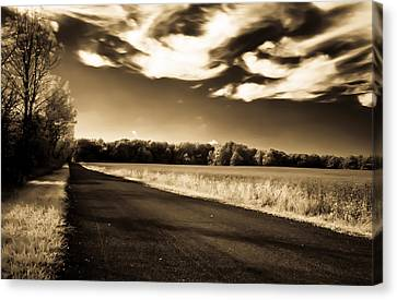 Canvas Print featuring the photograph Amish Road by David Stine