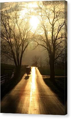 Amish Road Canvas Print