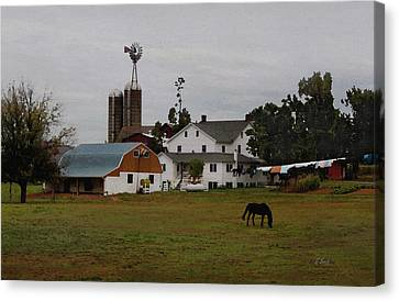 Amish Wash Day Canvas Print by Gordon Beck