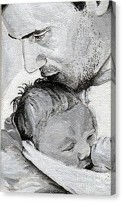 Amit And Mika Canvas Print by Tamir Barkan