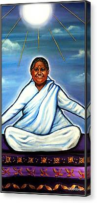 Amma -the Hugging Saint Canvas Print