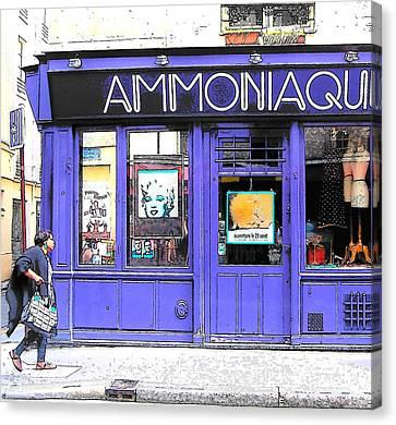 Ammoniaque Boutique In Marais Paris Canvas Print by Jan Matson