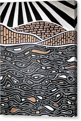 Amoeba Bay Canvas Print by Jo Claire Hall