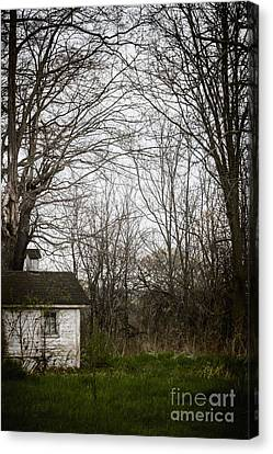 Side Porch Canvas Print - Among The Trees by Margie Hurwich