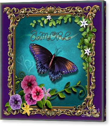Amore - Butterfly Version Canvas Print by Bedros Awak