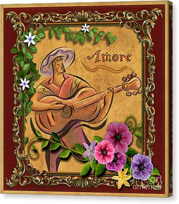 Amore - Musician Version Canvas Print by Bedros Awak