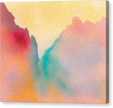 Canvas Print featuring the painting Amorphous 50 by The Art of Marsha Charlebois