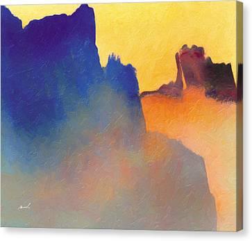 Amorphous 60 Canvas Print by The Art of Marsha Charlebois