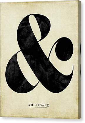 Ampersand Cream Canvas Print by Amy Cummings