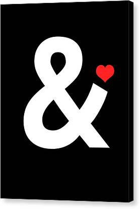 Ampersand Poster 4 Canvas Print by Naxart Studio