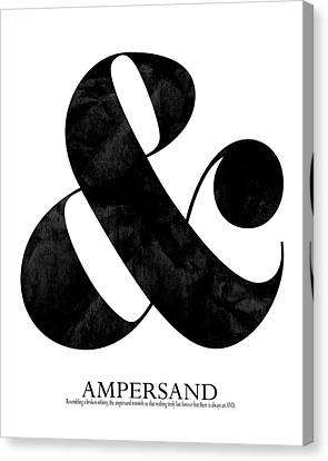 Modern Canvas Print - Ampersand White by Amy Cummings