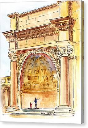 Amphitheater In Golden Gate Park San Francisco  Canvas Print
