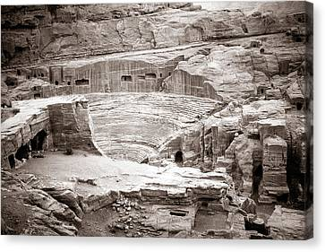 Nabatean Canvas Print - Amphitheater In Petra by Alexey Stiop