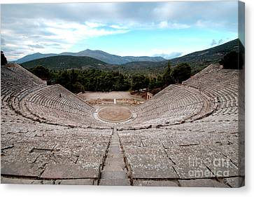 Amphitheatre At Epidaurus 2 Canvas Print