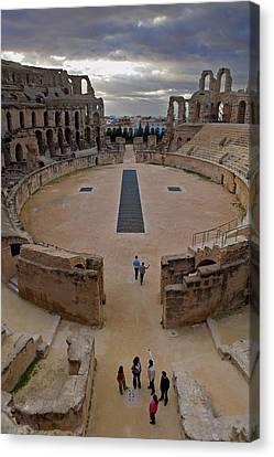 Jem Fine Arts Canvas Print - Amphitheatre Of El Djem. 238. Tunisia by Everett