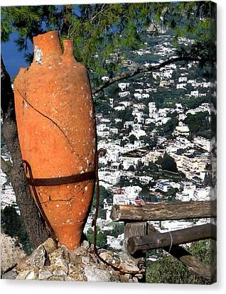 Amphora On Island Of Capri 1 Canvas Print