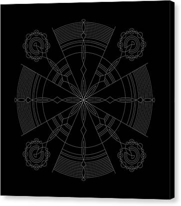 Amplitude Inverse Canvas Print by DB Artist