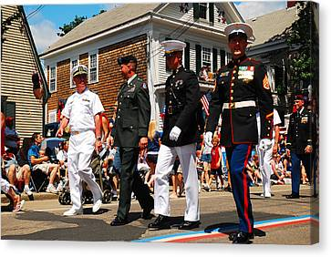 Amred Forces Salute Canvas Print by James Kirkikis