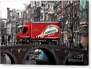 Amstel Bier Canvas Print by John Rizzuto