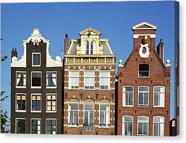 Amsterdam - Gables Of Old Houses At The Herengracht Canvas Print by Olaf Schulz