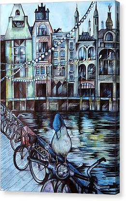 Amsterdam Canvas Print by Anna  Duyunova