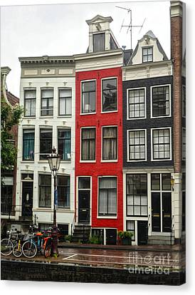 Amsterdam  Crooked Houses Canvas Print by Gregory Dyer
