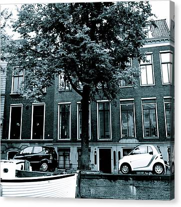 Amsterdam Electric Car Canvas Print by Cheryl Miller