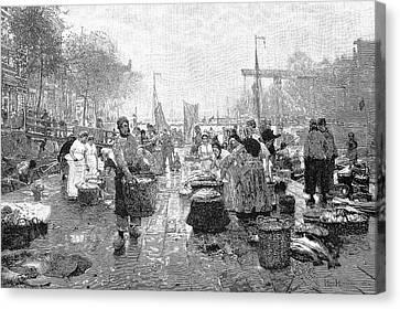 Amsterdam Fish Market Canvas Print