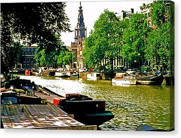 Canvas Print featuring the photograph Amsterdam by Ira Shander