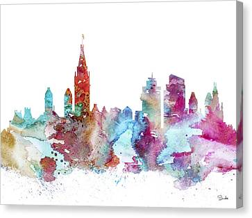 Amsterdam Canvas Print by Watercolor Girl