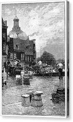 Amsterdam Milk Market Canvas Print